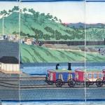 Habitantes-acudiendo-a-ver-el-primer-tren-de-Tokio