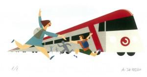 Niños al tren