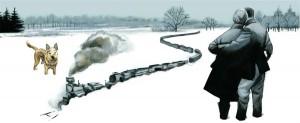 Tren-en-la-nieve-acrilico-FernandoVicente