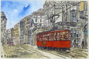 Tram en Milano