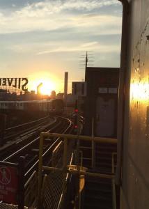 Sunset at Court Sq. Subway Station, NY