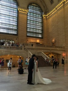 The Kiss at Grand Central Terminal