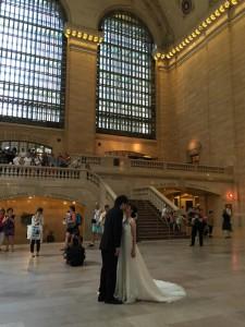 The Kiss at Grand Central Terminal