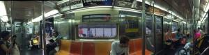 Inside the Subway car, NY