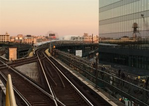 Sunset at Queens Boulevard line
