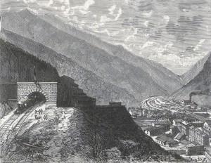 Modane mit dem Tunnel durch den Mont Cenis