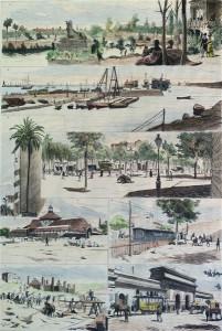 Barcelona moderna (Dibujo de Pellicer). Ilustración española y americana.