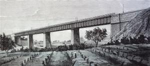 Barcelona. Nuevo puente en el ferro-carril de Granollers a San Juan de las Abadesas