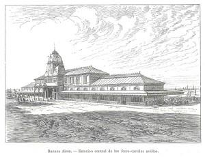 Buenos Aires. Estación Central de los FFCC Unidos.
