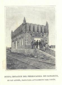 Nueva estación de ferrocarril de Caibarien, en San Andrés, habilitada para fortín