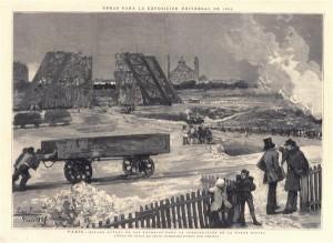 París. Estado actual para los trabajos de la torre Eiffel