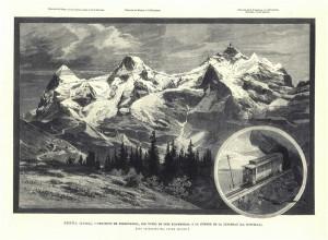 Berna (Suiza). Proyecto del FC con un túnel de 10 kms. A la cumbre de JungFrau (la doncella).