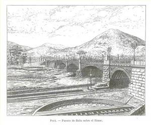 Perú. Puente de Balta sobre el Rimac
