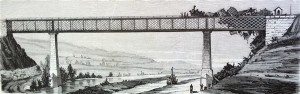 Sariñena. Puente sobre el río Alcanadre, en el ferro-carril de Zaragoza a Lérida destruido por las facciones de Dorregaray