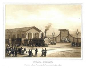 Stazione a Porta Portese della ferrovia di Civitavechia. Strada Ferrata