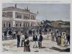 Bendición de la locomotora de Pontevedra