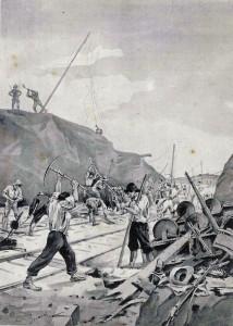 Transvaal, Boers detruisant le Chemin de Fer