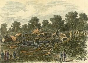 Der bei suglfetten am 3 September Zertrumnerte Filenbahnzug