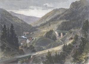 Von der Hollenthalbahn im Schwarzwald Blid von Finfterrantns Hollenthal