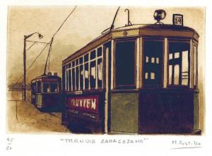 Tranvía zaragozano, línea 14 del barrio Oliver (1968)