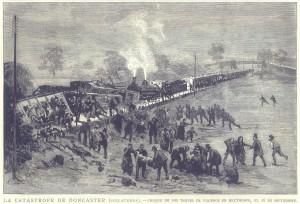 La catástrofe de Doncaster (Inglaterra) - choque de dos trenes de viajeros en Hexthorpe, el 16 de septiembre