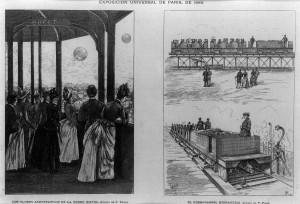 Exposición Universal de París, 1889. El Ferrocarril hidráulico