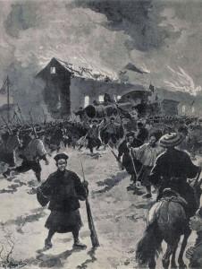 Destruction du Chemin de Fer de Mandchourie