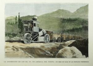 Locomocion en EUA un tren sin railes