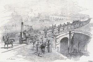 Zahajeni Train Stockton Darlington V Anglii 27 Zari 1825