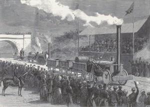 Zavody Lokomotiv V Rainhilly V Anglii 1829Raketa Prva U Cile