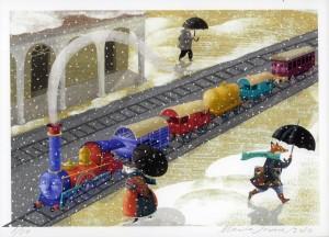Nieva en Trenlandia