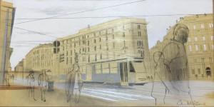 Tram per le strade di Milano 02