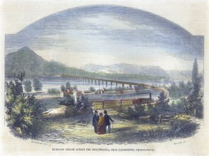 Railroad bridge across the Susquehanna, near Harrisburg, Pennsylvania