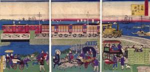 Locomotora de vapor en Takanawa