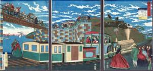 Locomotora en Takanawa (Tokio)