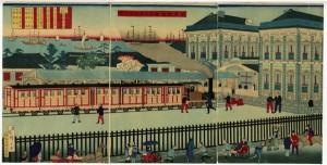 Tren de vapor en Yokohama